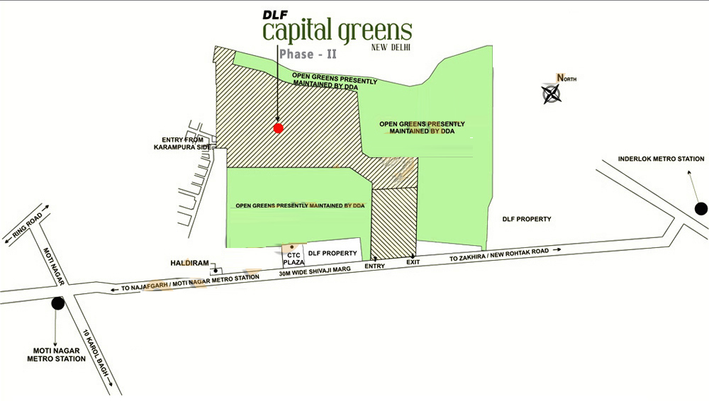 DLF Capital Greens Phase 2 Location Map